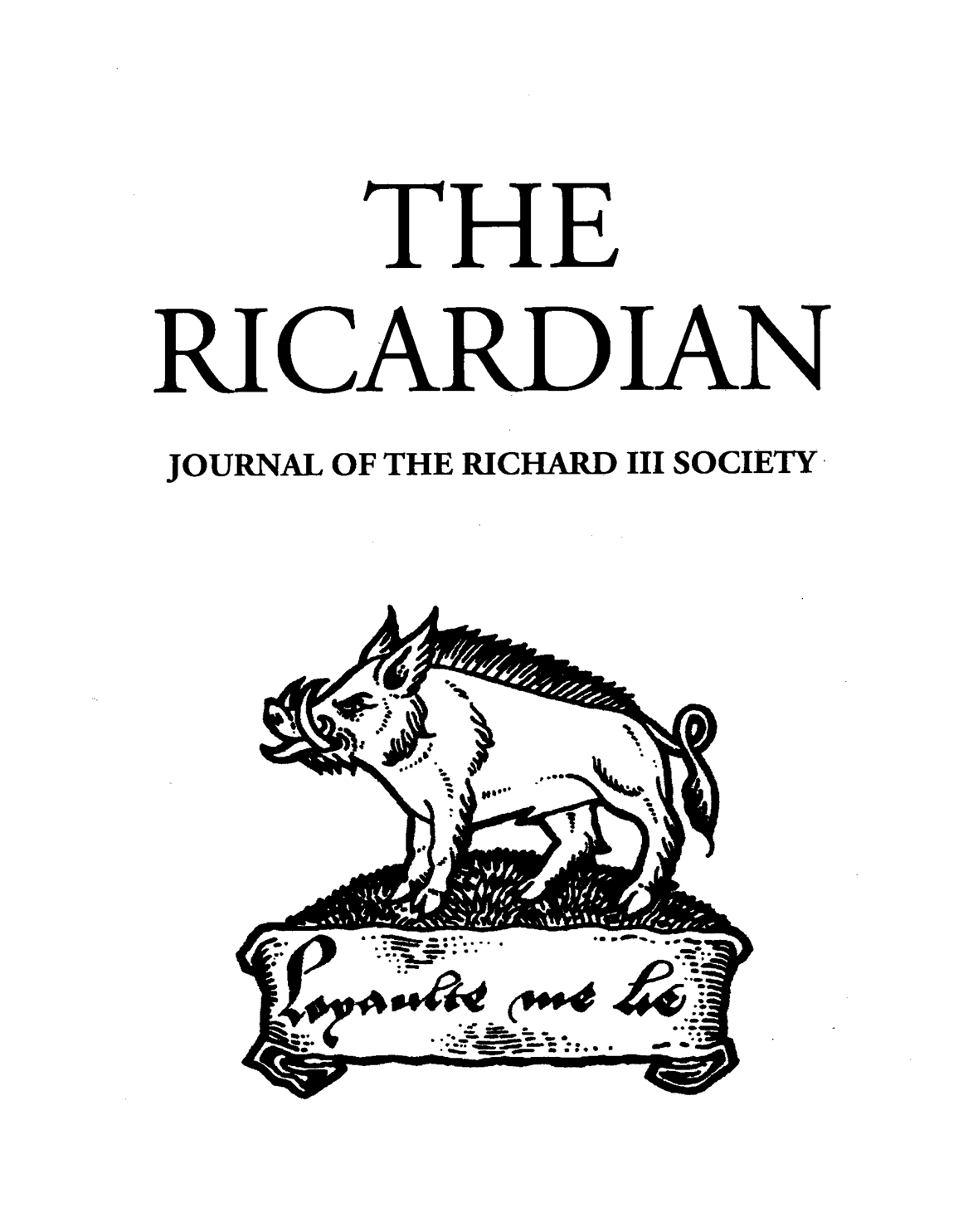 The Ricardian Online